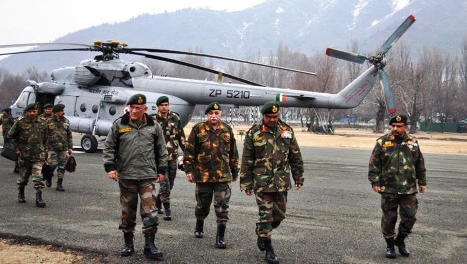 General Bipin Rawat arrived in Srinagar on Tuesday in the aftermath of deaths of 20 soldiers including an officer and a JCO in different incidents of snow avalanches mostly along line of control (LoC) in north Kashmir.