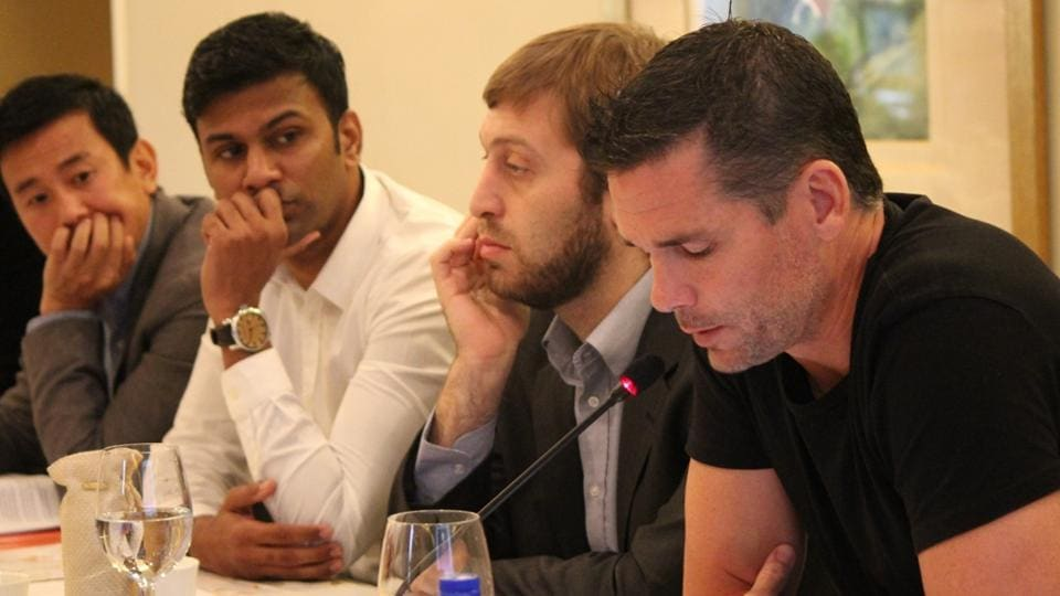 The All India Football Federation says it won't be difficult to find a replacement for the fired India's World Cup under-17 coach Nicolai Adam (nearest to camera in black T-shirt), seven months before India host the under-17 FIFA World Cup.