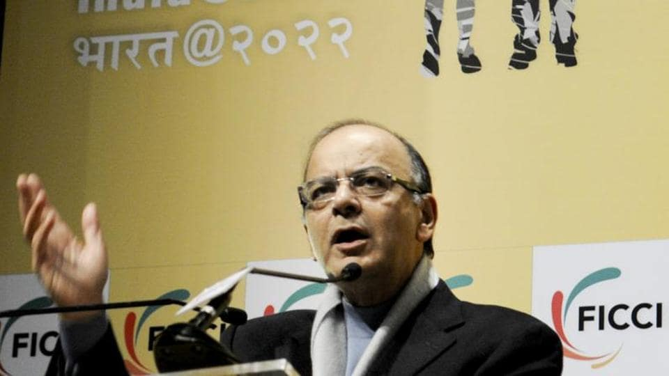 Finance minister Arun Jaitley delivers the inaugural address during FICCI's 88th Annual General Meeting in New Delhi.