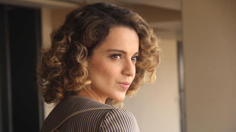 Kangana Ranaut poses during an interview with HT Cafe-Hindustan Times for the promotion of the film Rangoon at Sajid Nadiadwala's office.