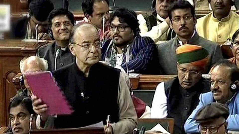 Union Finance Minister Arun Jaitley presenting the Union Budget 2017-18 in Lok Sabha in New Delhi on Wednesday.