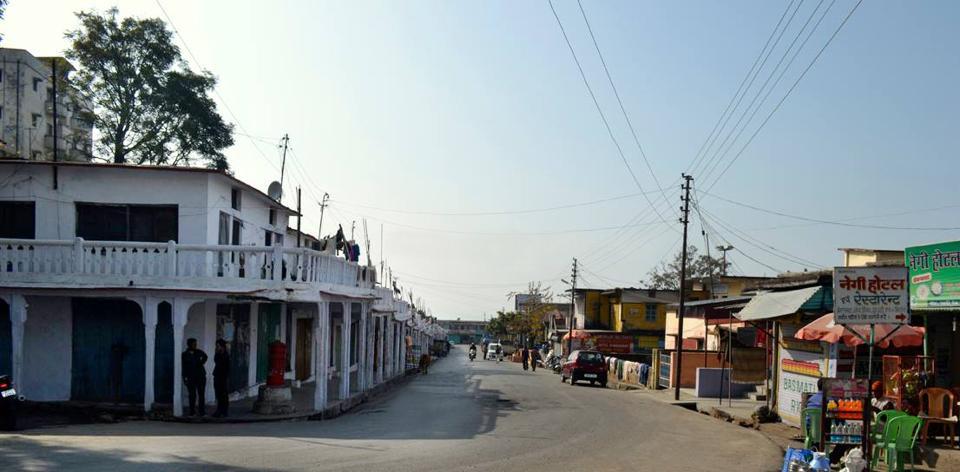 A view of Narendra Nagar market in  Uttarakhand's Tehri Garhwal district.