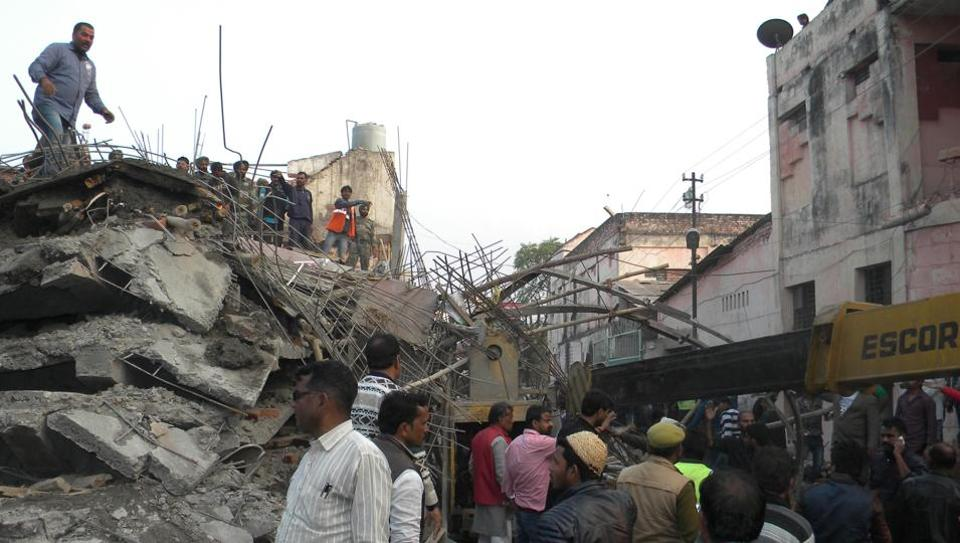 Eight killed as under-construction building collapses in Kanpur