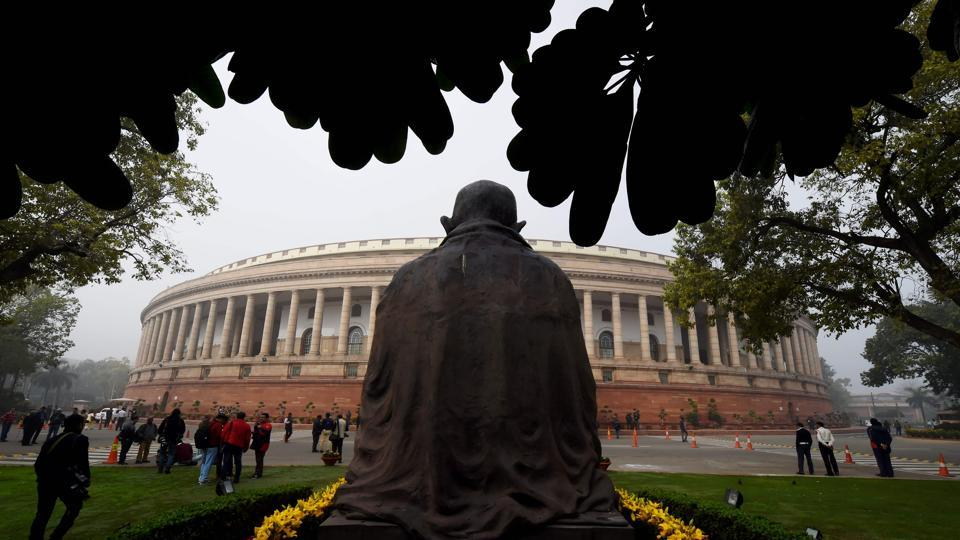 The parliament building in New Delhi where finance minister Arun Jaitley unveiled the 2017 budget on February 1.