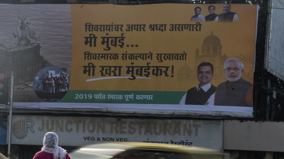 BJP campaign's tagline, 'Mee khara Mumbaikar', or, 'I am the real Mumbaikar', has started appearing on billboards in some parts of the city, and the battle for the nation's richest civic body has turned into a fight over who owns the city and its residents.