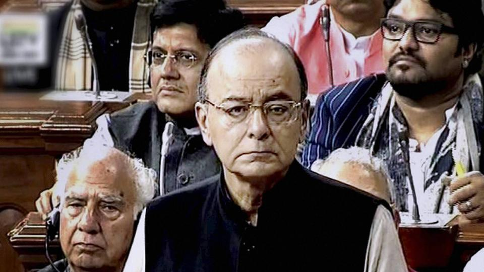 Finance minister Arun Jaitley tables the Union Budget for 2017-18 in the Parliament in New Delhi on Wednesday.