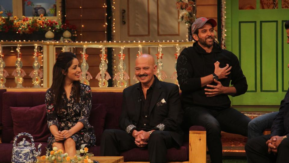 Hrithik brought the entire cast and crew of his film to the talk show. (Pramod Thakur/HT Photo)