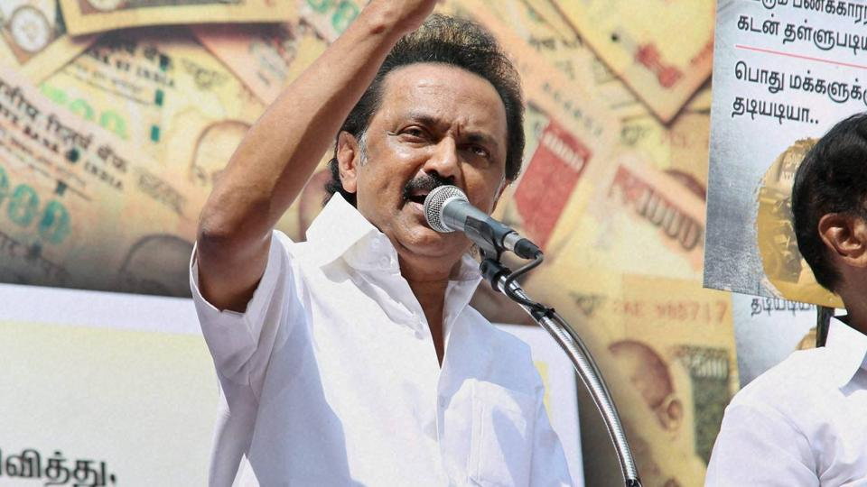 DMK working president and Opposition leader in the Assembly MK Stalin.