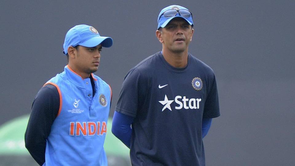 Rahul Dravid had last year guided the Ishan Kishan-led India U-19 team to a runner-up finish in World Cup.
