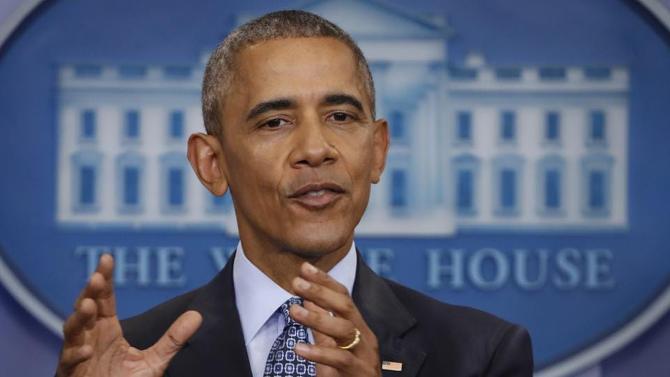 In this Jan. 18, 2017 file photo, President Barack Obama speaks during his final presidential news conference, in the briefing room of the White House in Washington. Dismayed by the Trump administration's first days, Barack Obama's loyalists, former aides and even his spokesman speaking out and even actively resisting the new American leader.