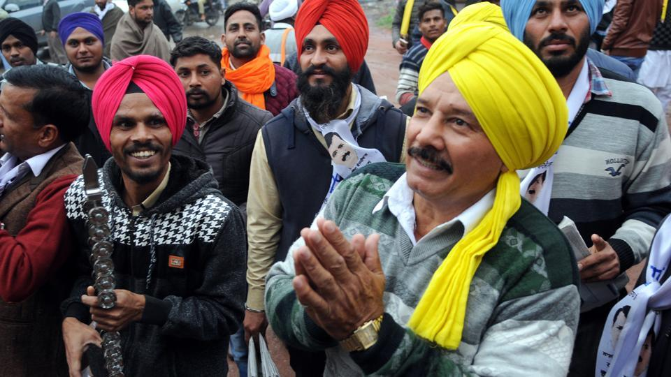 Arjuna Awardee wrestler Kartar Singh is contesting on AAP ticket from Tarn Taran assembly constituency. (Anil Dayal/HT)