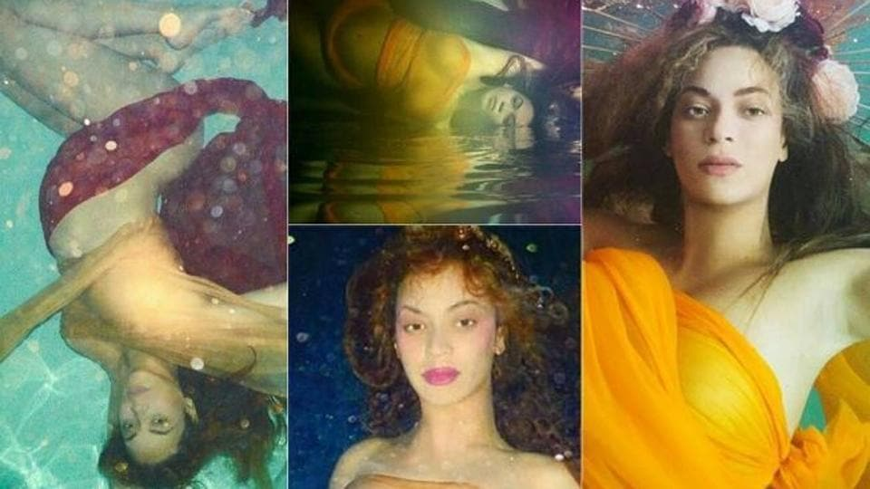 Beyonce is pregnant with twins and underwater  See her magical