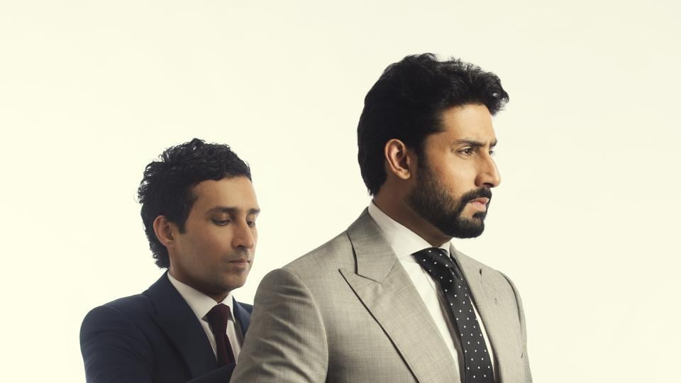 Paul Jheeta, Savile Row designer and the stylist for the HT Brunch shoot, seen here with Abhishek Bachchan