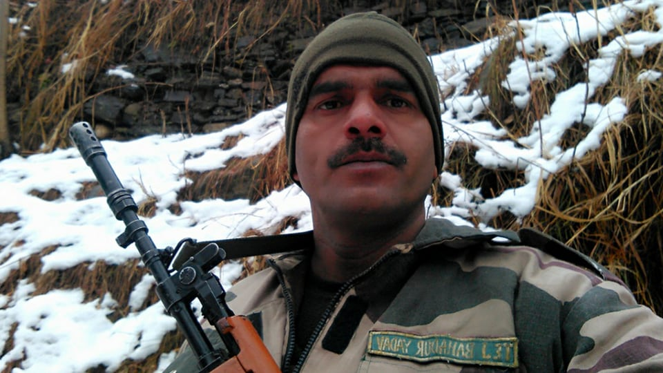 BSF soldier,Border Security Force,Facebook video