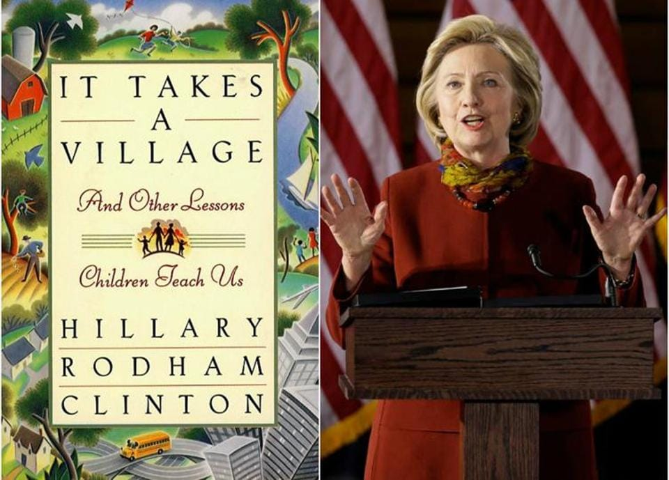 hillary clinton s it takes a village to be released as a picture