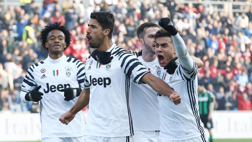 According to the UEFA figures, Juventus (above) received the biggest handout of 3.48 million euros for allowing their players take part in the Euro 2016 qualifying matches.