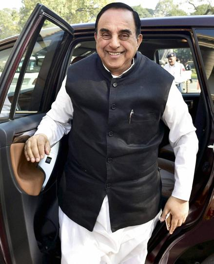 The Congress alleged that BJP MP Subramanian Swamy had made remarks welcoming a statement of Keshav Prasad Maurya, who had reportedly raked up the issue of Ram temple.