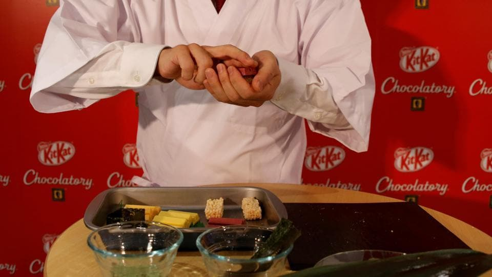Japan is home to many exotic KitKat flavours including sake rice wine, baked potato and soy sauce. (REUTERS)