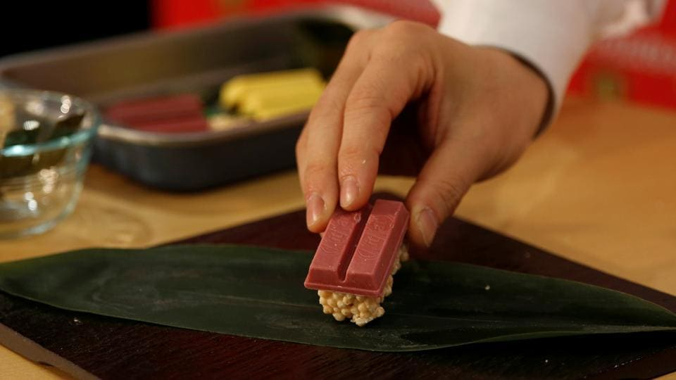 Nestle Japan's KitKat marketing manager Ryoji Maki said the idea was to create a fun variation of the traditional chocolate bar in the run-up to Valentine's Day. (REUTERS)