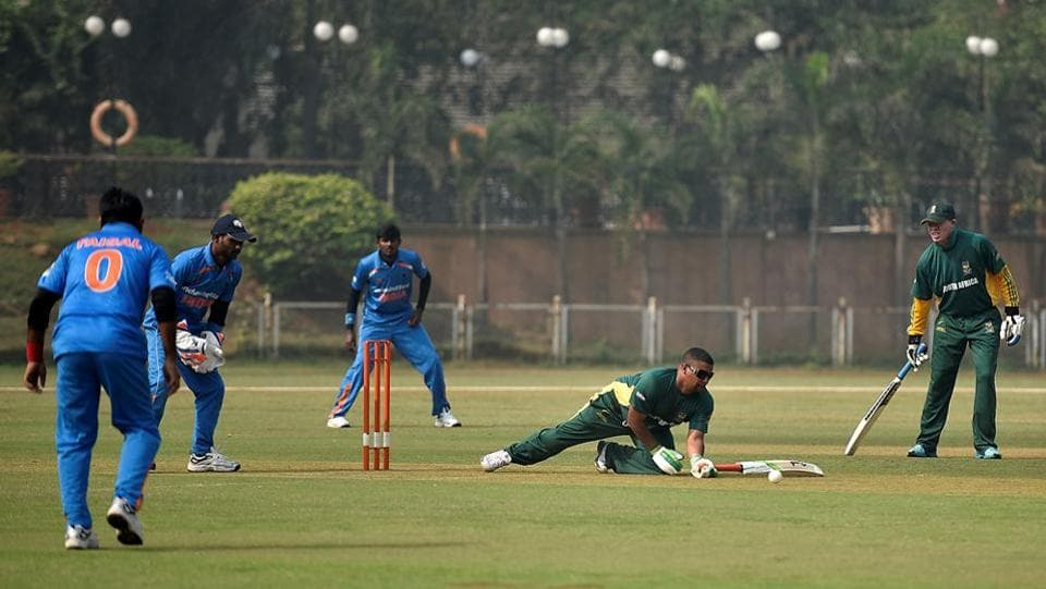 A team consists of three categories of players — B1, B2 and B3. B1 category players are fully blind; B2 are partially blind and B3 are partially sighted cricketers.  (Arijit Sen/HT PHOTO)