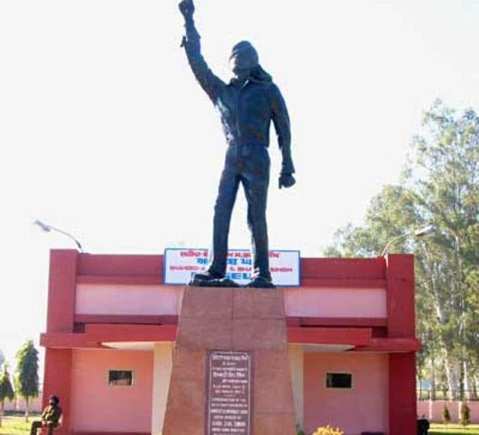 The Shaheed Bhagat Singh memorial at the martyr's native Khatkar Kalan.