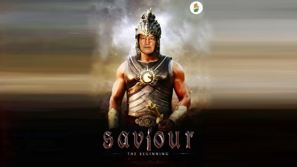 In the video, Uttarakhand chief minister Harish Rawat's face has been superimposed on that of the heavily muscled protagonist Amarendra Baahubali.