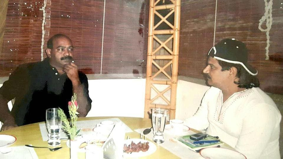 Maddipati Srinivas Rao, currently an additional superintendent of police with the Crime Investigation Department (CID), drinking with Nayeem.