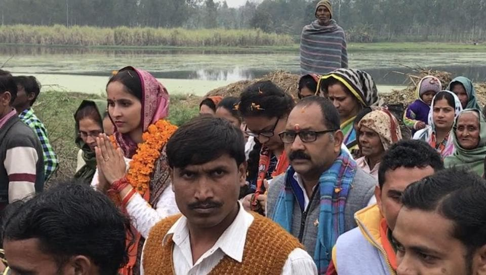 Suchi Chaudhury, the Bharatiya Janta Party's candidate for Bijnor City.