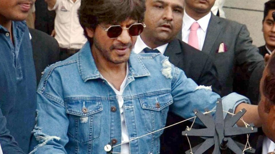 Shah Rukh Khan was in Ahmedabad to promote his film Raees.  (PTI)