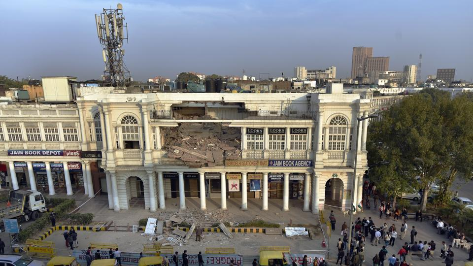Connaught Place,renovation,building collapse