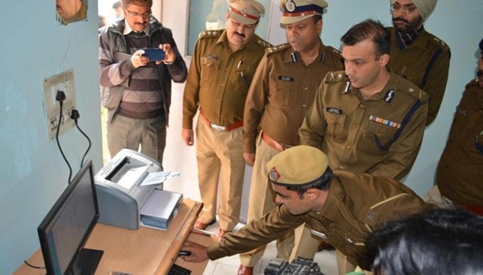 Sandeep Khirwar, Gurgaon police commissioner, inaugurated a postal challan office at the old commissioner's office on Friday.