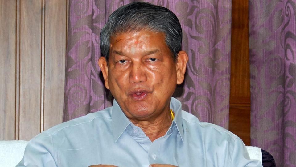CM Harish Rawat at his residence in Dehradun.
