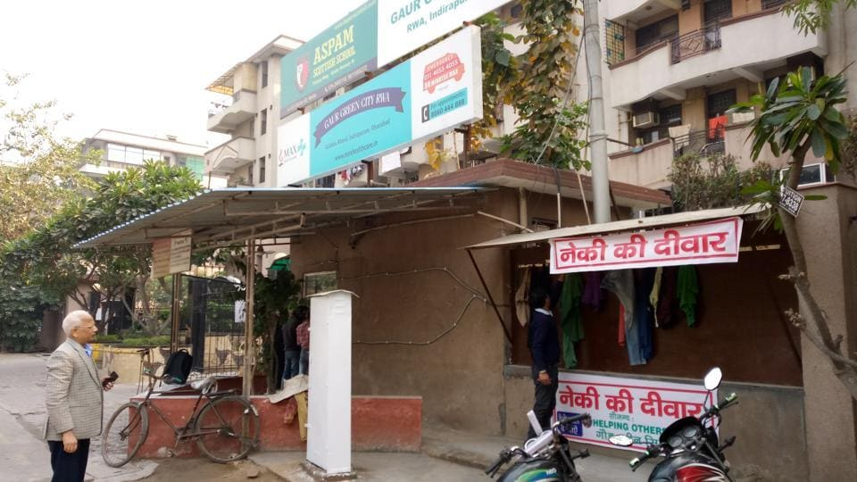 Residents of an Indirapuram housing complex have helped hundreds of underprivileged people with clothes and other donations.
