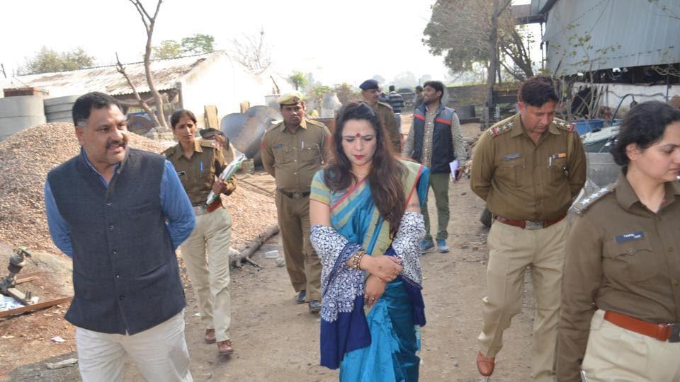 Suman Dahiya, vice-president of Haryana Commission for Women, visited Mandpura village on Friday.