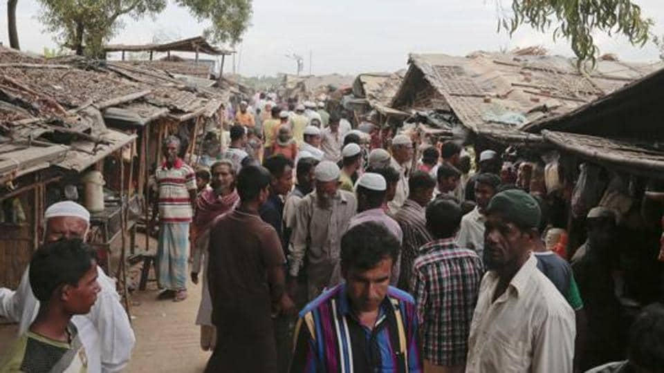 File photo of Rohingya from Myanmar at an unregistered refugee camp in Teknaf, near Cox's Bazar, a southern district  of Bangladesh.