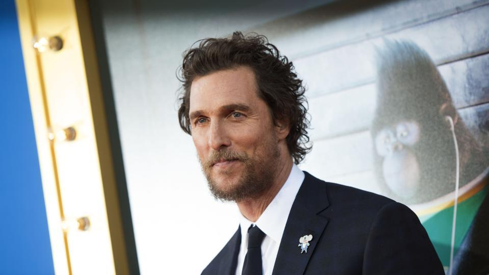 Actor Matthew McConaughey attends the Universal Studio premiere of Sing in Los Angeles, California.