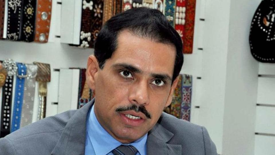 Congress president Sonia Gandhi's son-in-law Robert Vadra.