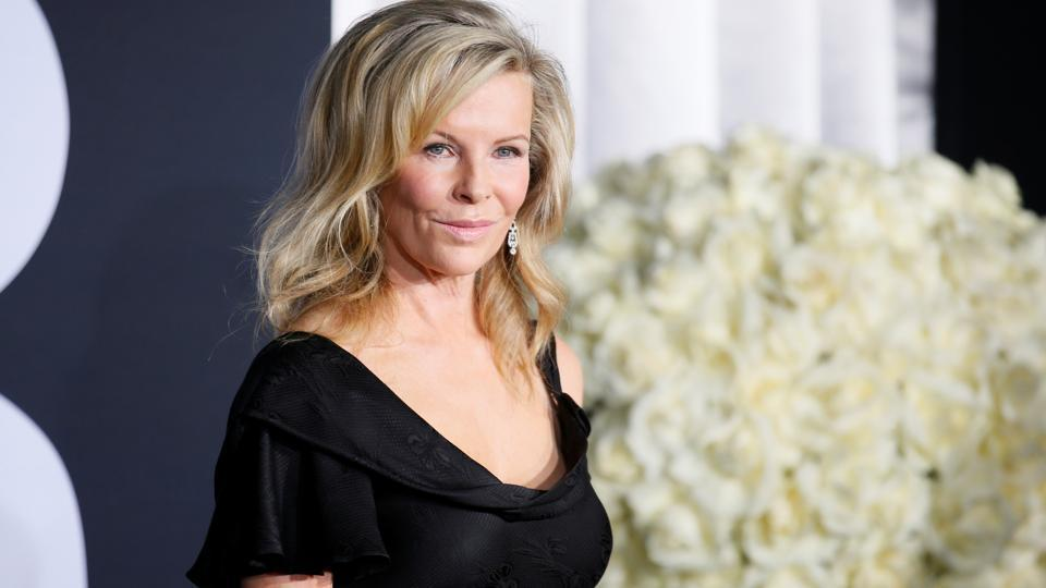 Kim Basinger poses at the premiere of the film Fifty Shades Darker. Basinger plays Christian's mother in the film. (REUTERS)