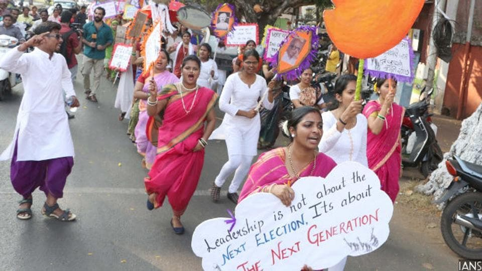 People participate in a voters' awareness campaign ahead of Goa assembly polls in Panaji. Our examination of party manifestos in the state's first three-cornered election provides an insight into the intensity of the battle.