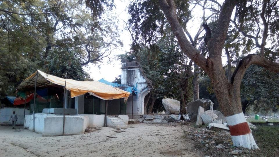 The remnants of the Mewati village inside Chandra Shekhar Azad park that survives till date.