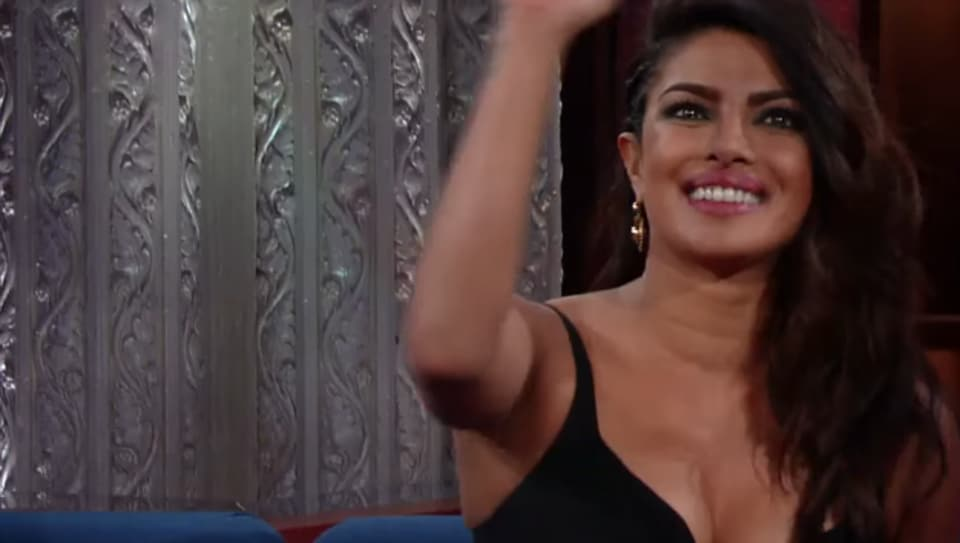 The appearance marks Priyanka's first visit to the Colbert-hosted talk show and the episode also features an interview with Thomas Sadoski and stand-up comedy from Pat Brown.