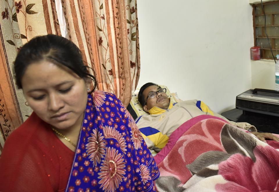 Asian Games gold medallist and Padma Shri awardee Dingko Singh and his wife are living in a friend's tiny flat in Delhi. Their two children are in a boarding house for students back home in Manipur.