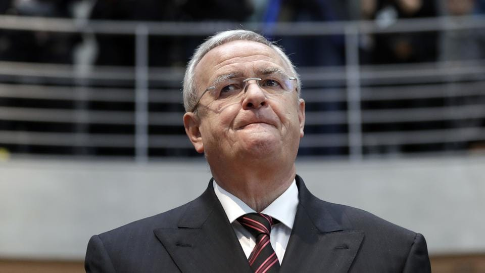 In this Jan 19, 2017 file picture, Martin Winterkorn, former CEO of the German car manufacturer Volkswagen, arrives for a questioning at an investigation committee of the German federal parliament in Berlin, German. Prosecutors in Germany say on Jan. 27, 2017 they have sufficient evidence to indicate that former Volkswagen CEO Martin Winterkorn knew of his company's emissions cheating software earlier than he claims.
