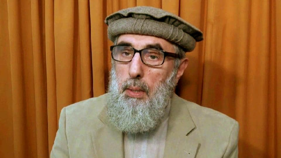 This file image shows Afghan warlord Gulbuddin Hekmatyar, now in his late 60s, in an undisclosed location. The United Nations removed the name of the former Afghan warlord from its Islamic State group and al-Qaida sanctions list.