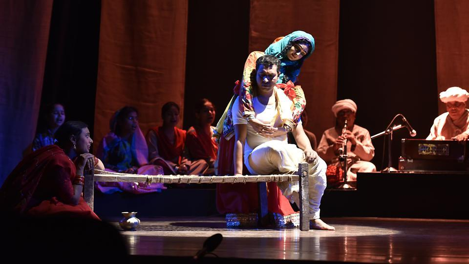 The festival organisers say that they have made a conscious effort to choose the best of traditional and folk theatre along with modern plays.   (Raj K Raj/HT PHOTO)