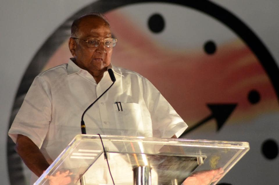 Nationalist Congress Party (NCP) chief Sharad Pawar .
