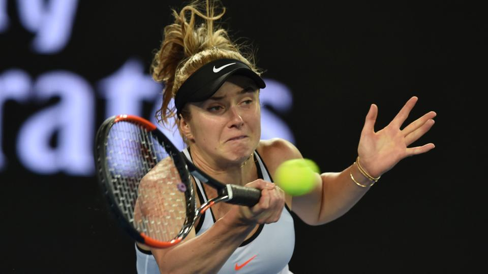 Elina Svitolina of Ukraine secured a spot in the Taiwan Open final Saturday after beating Luxembourg's Mandy Minella.