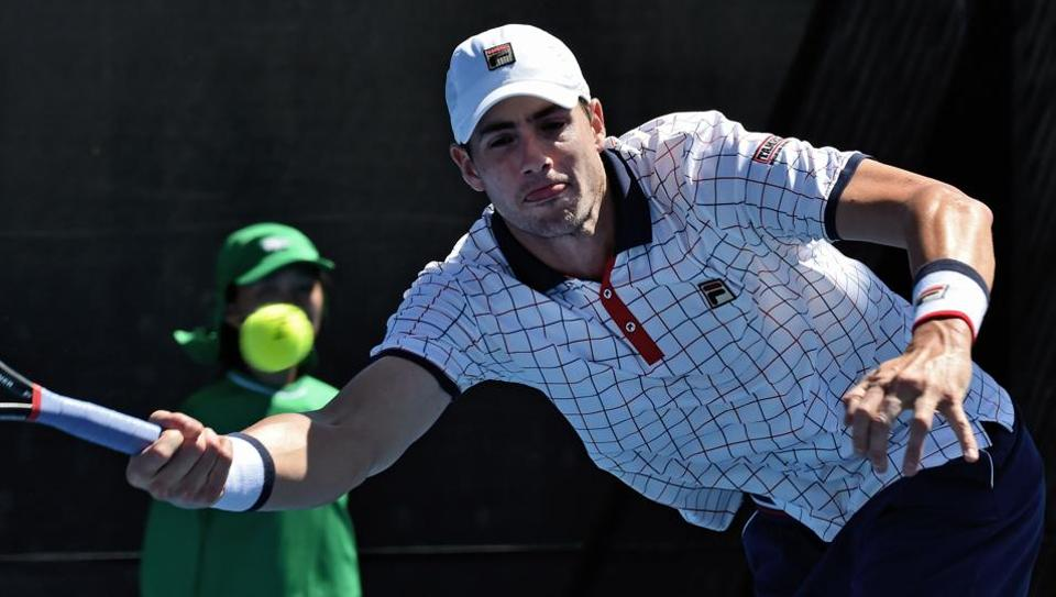 John Isner defeated Switzerland's Henri Laaksonen 4-6, 6-2, 6-2, 7-6 (7/1) in their Davis Cup World Group encounter.