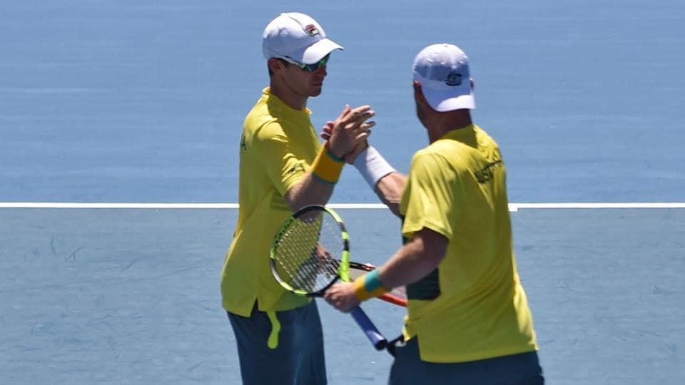 Sam Groth and John Peers won their doubles encounter as Australia took an unassailable lead over Czech Republic in the Davis Cup World Group encounter.