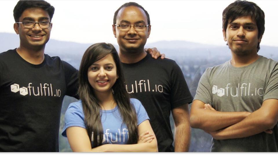 The co-founders of Fulfil.io: (from left) CEO Sharoon Thomas, Rituparna Panda, Tarun Bhardwaj and Prakash Pandey.
